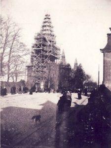 Tartu Peetri kirik tornide ehitus